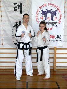 Małgorzata Ciesielska z trenerem