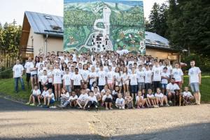 Uczestnicy obozu w Zlatych Horach